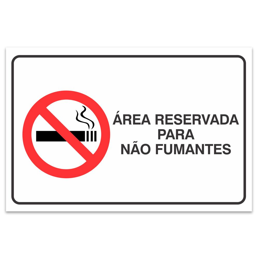 area reservada para nao fumantes