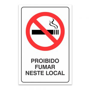 proibido fumar neste local