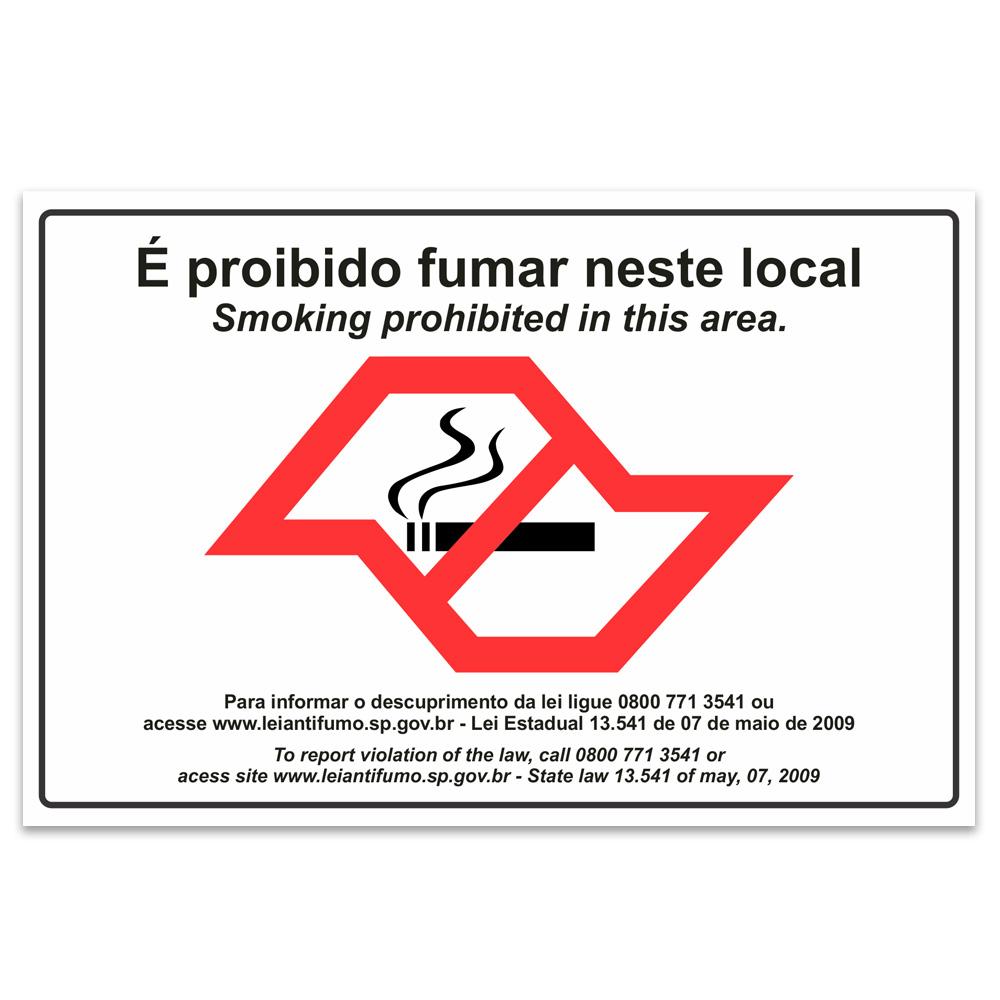proibido fumar neste local sao paulo ingles
