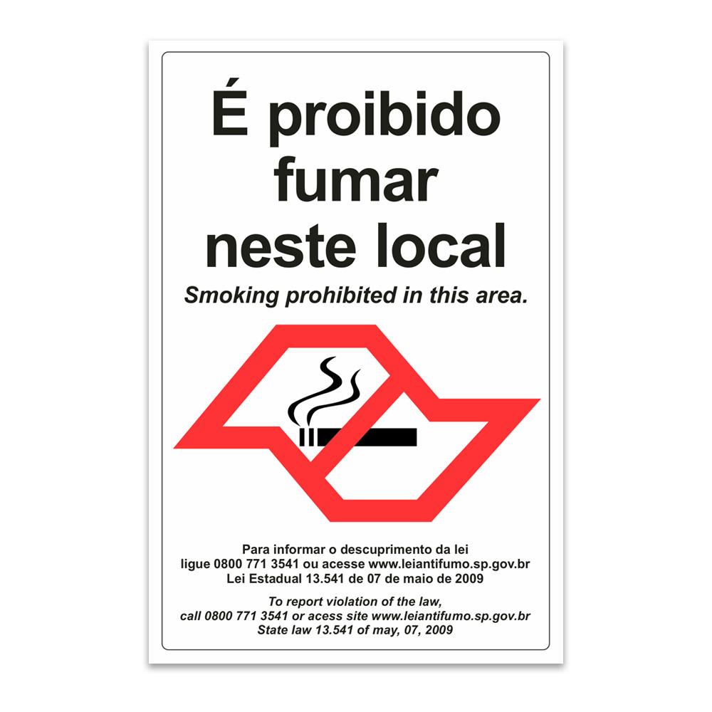 proibido fumar neste local sao paulo