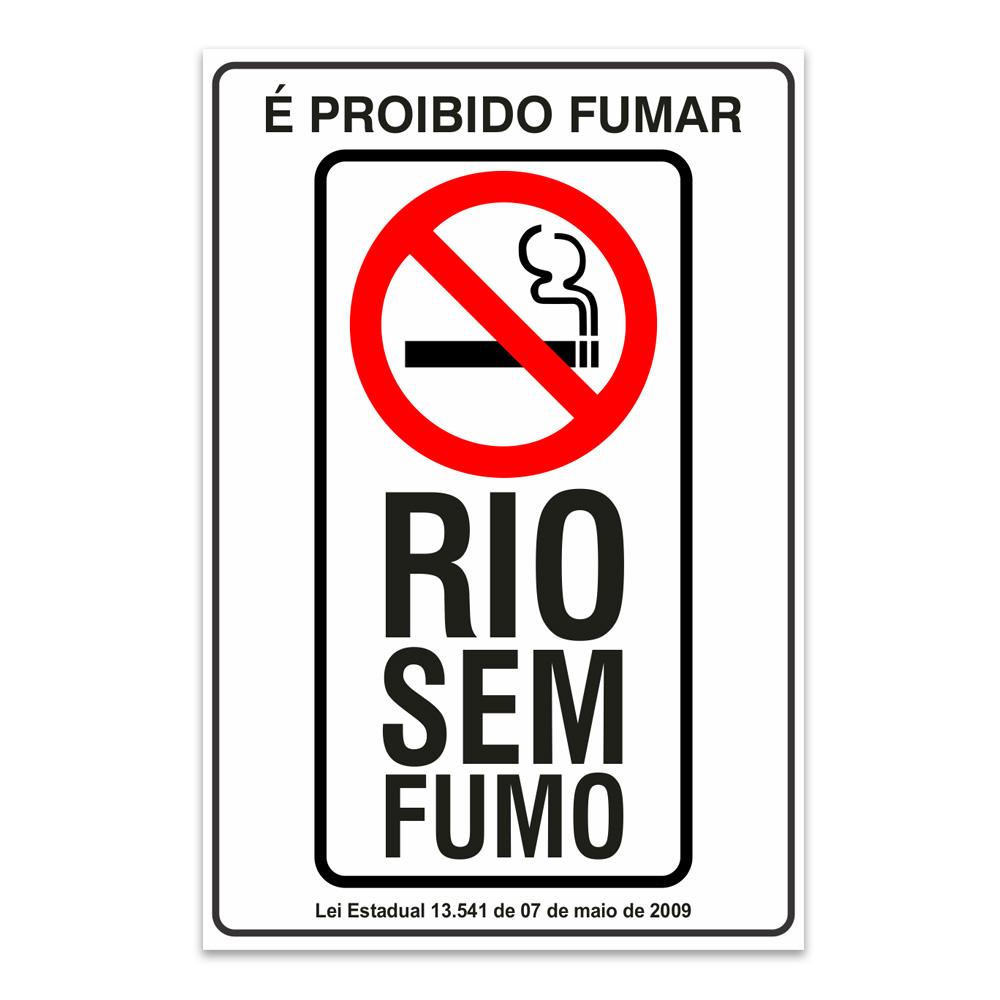 proibido fumar rio sem fumo