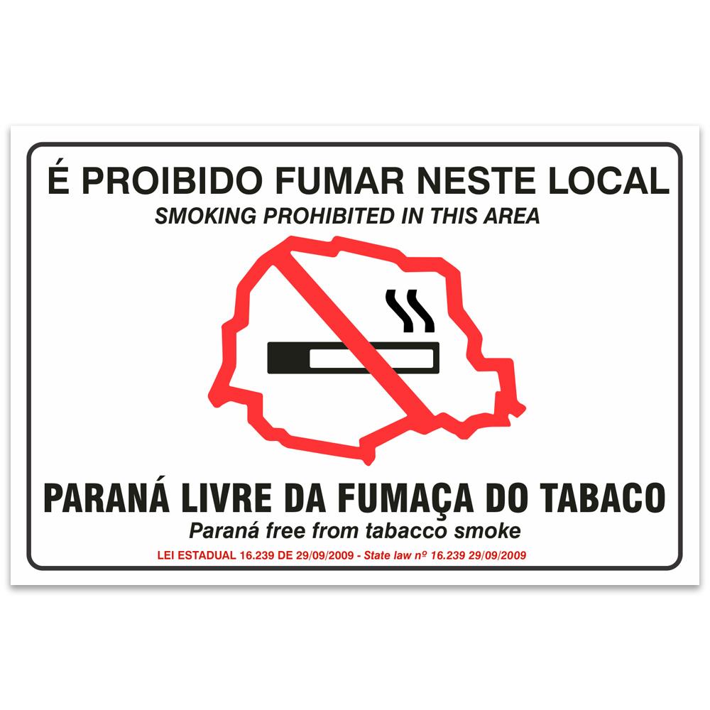 proibido fumar neste local parana