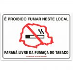 proibido fumar neste local parana