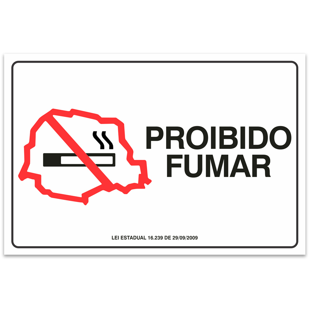 Adesivo Proibido Fumar - Paraná