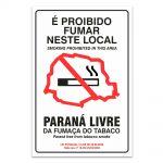 Adesivo Proibido Fumar – Paraná ingles