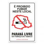 e proibido fumar neste local parana