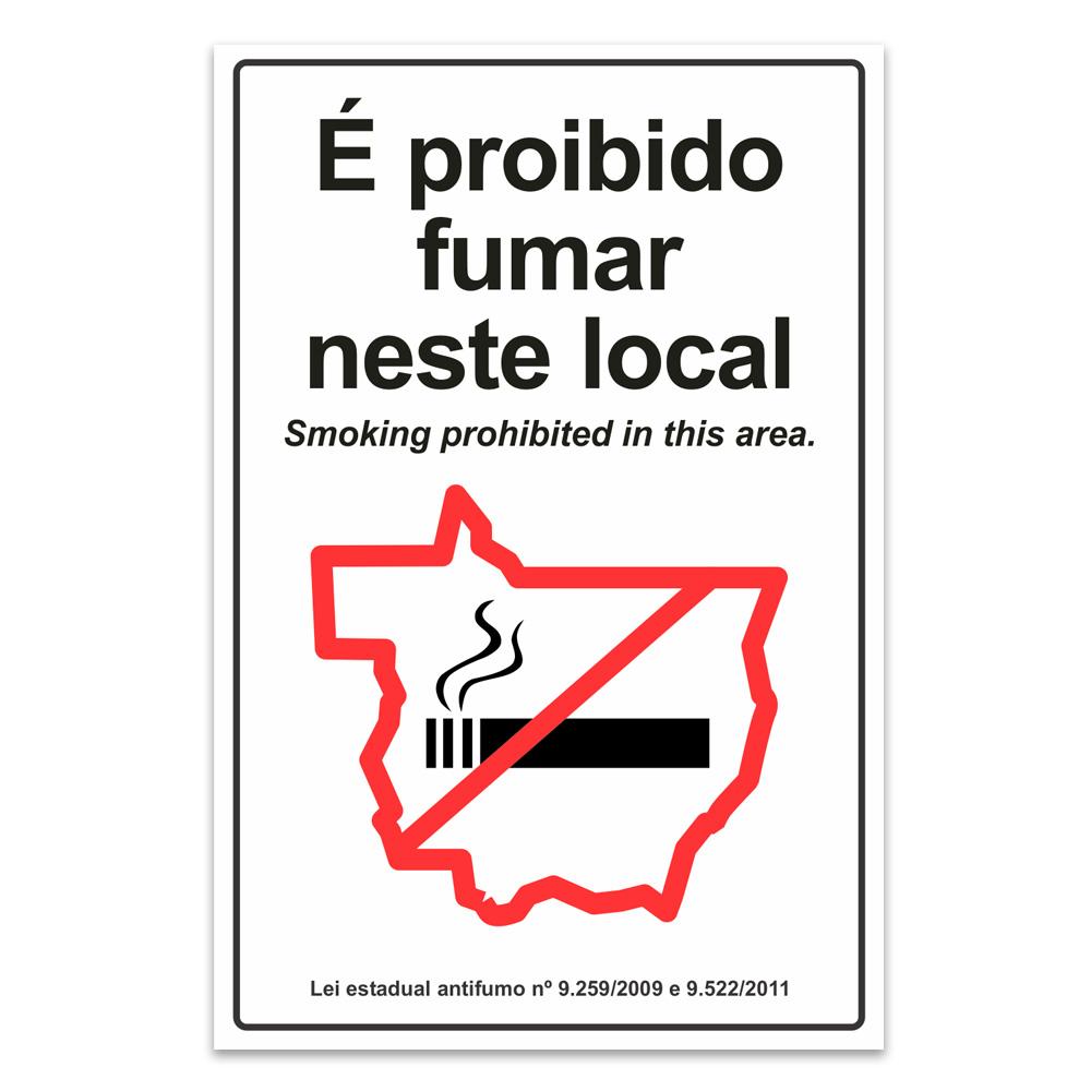 proibido fumar neste local ingles mato grosso