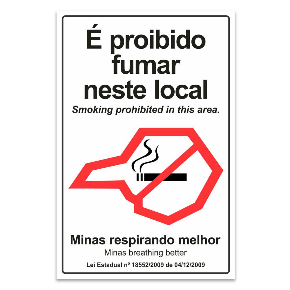 proibido fumar neste local ingles minas gerais
