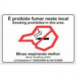 Adesivo É proibido fumar neste local port/inglês – Minas Gerais