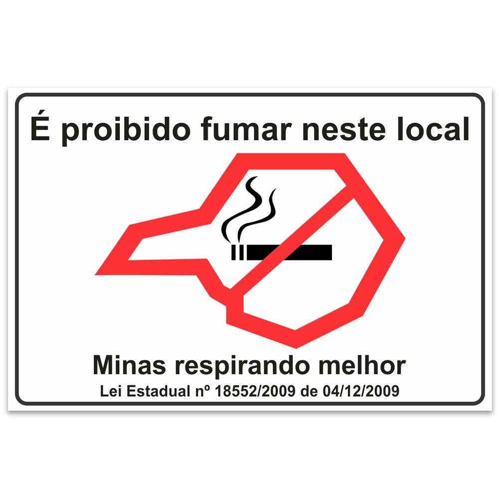 Adesivo É proibido fumar neste local – Minas Gerais