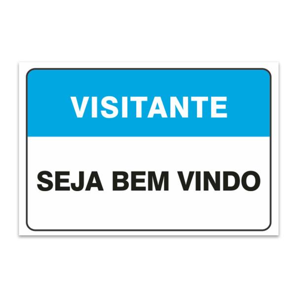 Seja Bem Vindo: Adesivo Seja Bem Vindo Visitantes 30×20 Cm
